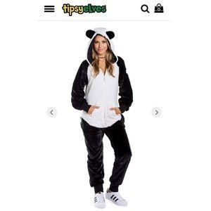 NWT Tipsy Elves plush panda jumpsuit 🐼